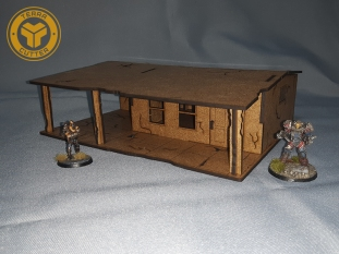 Vegas house v1 Lasercut terrain for Fallout Wasteland Warfare