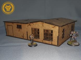 Vegas house v2 Lasercut terrain for Fallout Wasteland Warfare